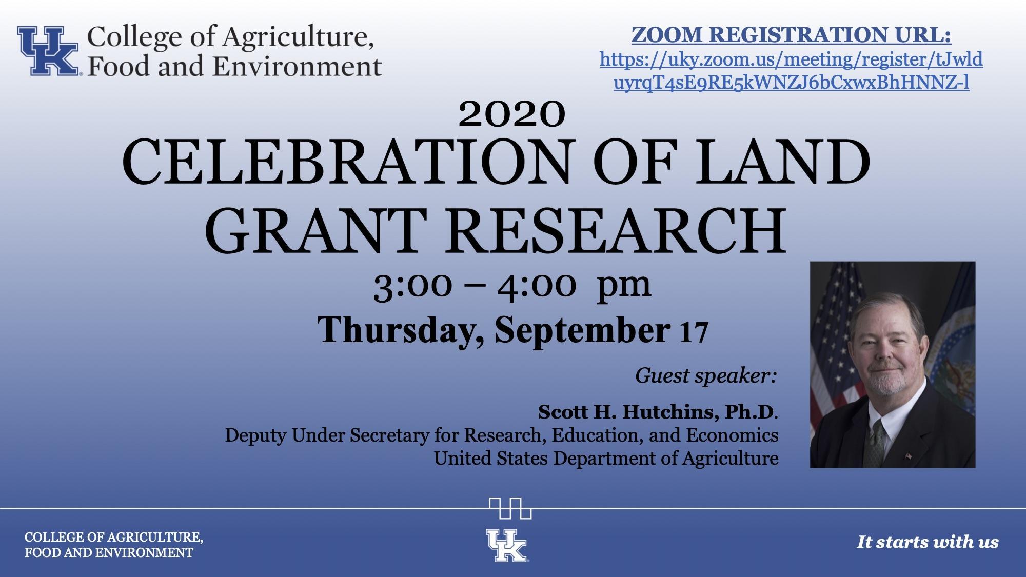 Celebration of Land Gran Research 3pm - 4pm Thursday, September 17, 2020